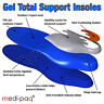 Gel Full Orthotic Support Insoles Inserts Pads - Foot Heel Spur Ankle Arch Pain