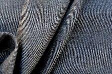 D214 RUSTICO MARRONE MELANGE super sottile LANA PETTINATA misto cotone diagonale