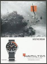 HAMILTON Khaki Navy Frogman-watch Print Ad