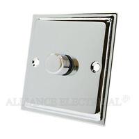 Slimline Polished Chrome LED 1-Gang 2G 3G 4G Light Dimmer Switch 250W 2Way 10Amp