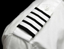 Southwest Airlines Velcro® Epaulets Captain Four Bar White Nylon on Navy