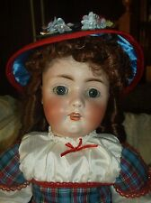 23-in antique German bisque doll #478, rare, nicely dressed, must see!