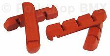 Kool Stop bicycle brake blocks pads refills inserts Shimano Deore LX (4) SALMON