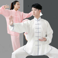 Martial Arts Uniform Chinese Kungfu Tai Chi T-shirt Suit Cotton Linen Clothing
