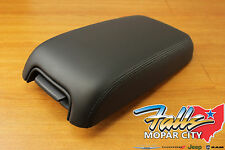2011-2015 Chrysler 300 Dodge Charger Black Leather Front Armrest Mopar OEM