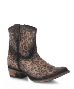 Women's Corral Leopard Print Zipper Ankle Boot C3627