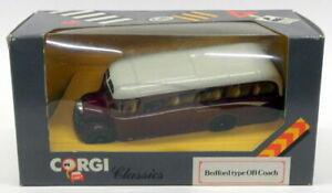 Corgi 1/50 Scale Model Bus D949/18 - Bedford Type OB Coach - Exeter Torquay