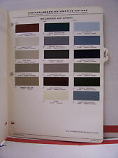 1964 Chrysler 300 Newport Imperial New Yorker Paint Chips Color Chart R-M 64
