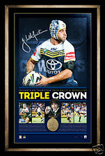 Triple Crown - Jonathan Thurston 2014 Dally M Personally Signed Lithograph