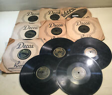 Group 11 Vintage DECCA 78 Records~Estate Finds