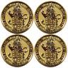 Lot of 4 - 2016 U.K. 25 Pound 1/4 oz Gold Queen's Beast BU The Lion