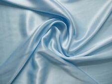 100 % Seide Crepe Satin - himmelblau, Top Qualität Meterware ca. 114 cm breit