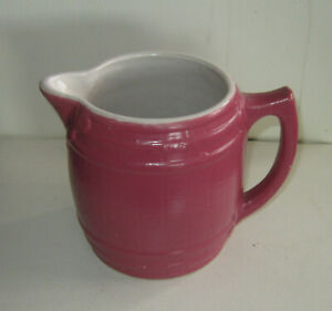 Large mug in rare maroon color by Uhl Pottery, Indiana