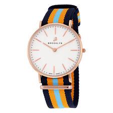 Brooklyn Flatland Canvas Strap Super Slim Swiss Quartz Watch BW104-U31144