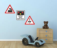 Railway Sign Wall Stickers - Level Crossing Wall Stickers - Kids Wall Stickers