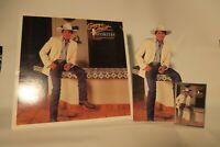 George Strait Unofficial Release Bundle Vinyl Cassette and Cutout