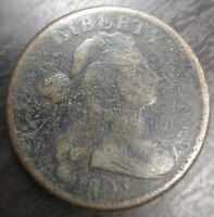 1803 Draped Bust Large Cent Small 3 Very Good VG or Fine Details
