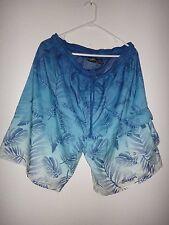 BALBOA Men's Swim Trunks Shorts Briefs Pockets Blue Floral 100% Polyester Sz XL