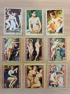Equatorial Guinea  nudes 9 stamps CTO