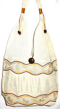 SAC A MAIN ETHNIQUE blanc ETHNIK BAG WOMEN white vintage bohème