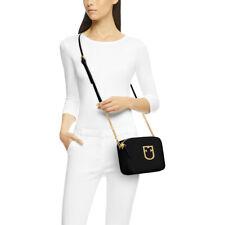 NWT 🌹 FURLA BRAVA Leather Style 1013949 Chain Crossbody Bag Black (Onyx) Gold