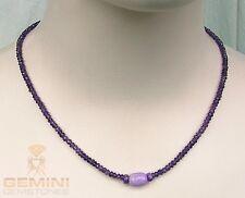 Amethyst-Kette lila Amethyst facettiert mit Sugilith Halskette Gemini Gemstones