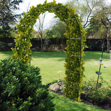 METAL GARDEN ARCH TRELLIS CLIMBING PLANT ROSES HEAVY DUTY BLACK STRONG ARCHWAY