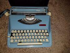 Royal Fiesta RARE Typewriter Teal Aquamarine Blue Vintage Manual Made in Holland