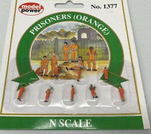 Model Power N Scale Prisoners-Orange