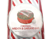"30"" Whitmor Christmas Holiday Wreath and Garland Bag Zippered Clear Top Red NIP"