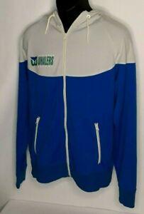 Vintage BANNER 47 NHL Hooded Knit Sweatshirt Hartford Whalers Gray/Blue Size L