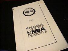 1994 Houston Rockets NBA Basketball Playoffs Media Guide