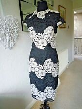 PER UNA BLACK & CREAM LACE DRESS  - SIZE 10 - NWOT