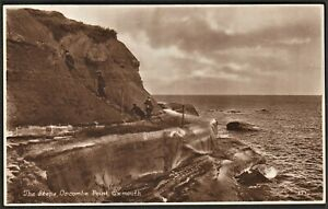 EXMOUTH, DEVON postcard The Steps, Orcombe Point