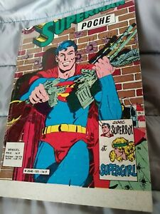 SUPERMAN POCHE N°101 SAGÉDITION 1977  BEL ÉTAT sauf erreur de massicot d'origine