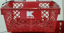 VINTAGE RED KMART Dept. Store  PLASTIC HAND SHOPPING BASKET COLLECTIBLE