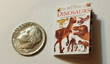 Miniature Dollhouse Action Figure  book Barbie 1/12 Scale Dinosaur Book 5