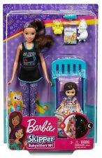 BARBIE Skipper Babysitters Inc. BEDTIME Playset With Bed and Doll Figures FHY97