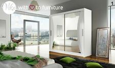 Perfect interior 2 sliding door wardrobe CHARLOTTE 180 W mirrored FREE DELIVERY