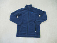 Columbia Sweater Youth Large Blue Fleece Full Zip Outdoors Boys Kids A16