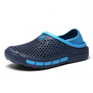 Mens Casual Breathable Slippers Sandals Soft Sole Closed Toe Hollow Out Shoes