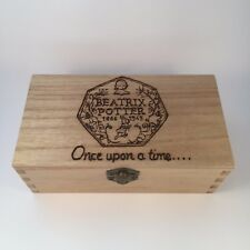 Personalised Wooden coin Collection box display beatrix Potter with coins