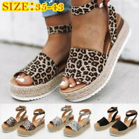 Lady Summer Platform Sandal Buckle Strap Casual Open Toe Fish Mouth Wedge Shoe-1