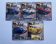 New Hot Wheels 2021 Boulevard Premium Vw Bus, Subaru, Mazda, Nova,Riviera (5pcs)