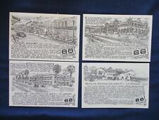 Lot of 4 California & Arizona R. Waldmire Route 66 Art Postcards