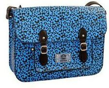 NEW Genuine Paul Frank Leopard Print School Satchel - Blue  RRP £34.99