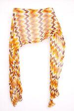 Fantastic Everyday Ladies Orange&Brown Herringbone Pattern Light Scarf (S349)