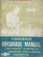 1969 CHEVROLET OVERHAUL MANUAL CAMARO CORVETTE CHEVY NOVA CHEVELLE
