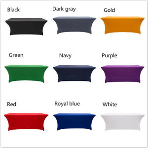 Stretch Spandex Rectangular Fitted Table cloth Cover Wedding Party Decoration