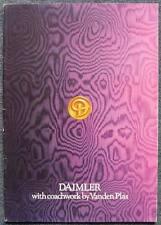 DAIMLER RANGE By VANDEN PLAS Car Sales Brochure 1978 #3284 DOUBLE SIX Limousine